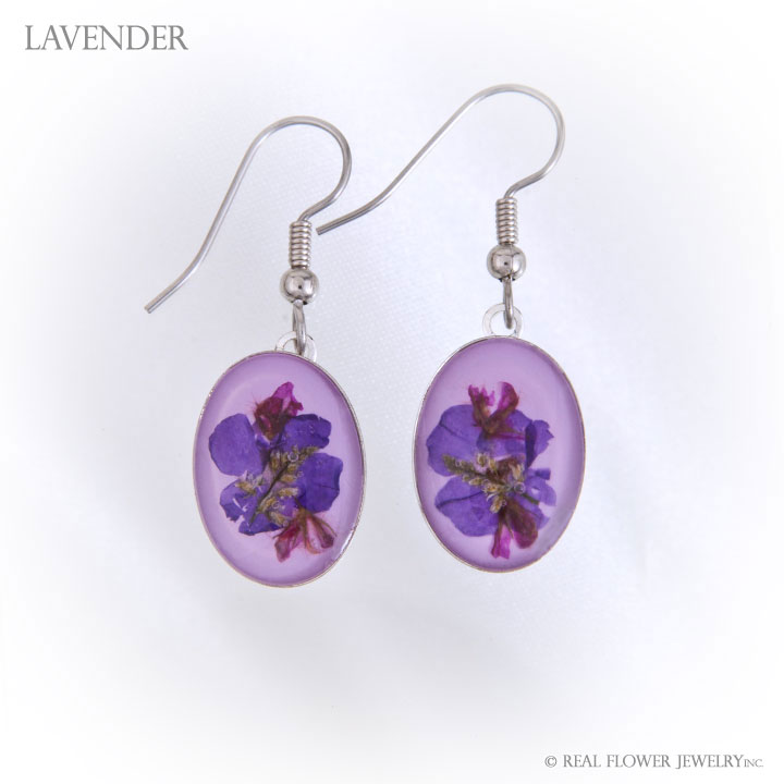 Lavender Wild Flower Large Earrings