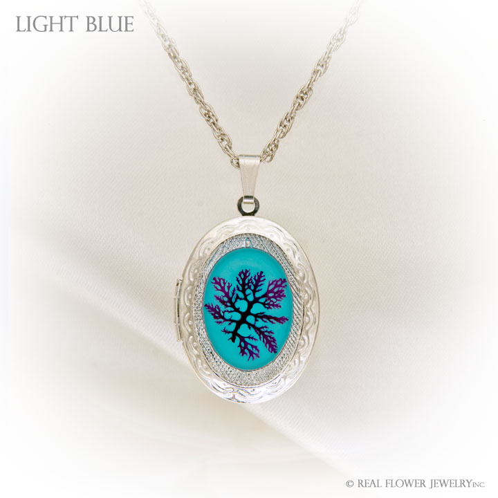 Light Blue Algae Locket