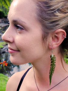 Bold Fern Earrings