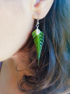 Dainty Fern Earrings