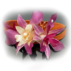 Hair Accessory  | barrettes, combs, and clips made with orchid