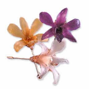 Traditional Pin | the classic filigree stickpin with Hawaiian orchid
