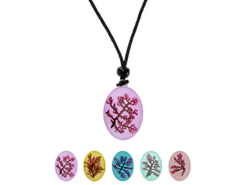 Real Hawaiian Seaweed Pendant - Only @ Real Flower Jewelry!
